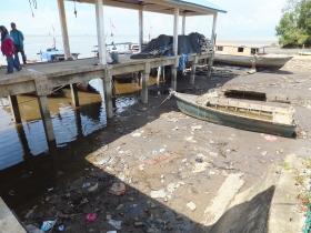 Labuan to Sipitang Speedboat - Rubbish at Sipitang Terminal