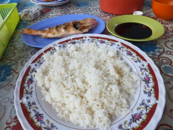 Sipitang Taxi Stand Red Snapper and rice RM3