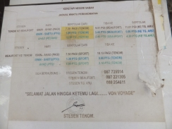 Tenom Railway Train Schedule 2014