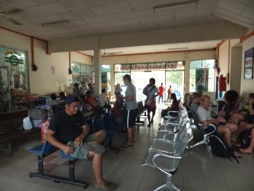 Sabah Padas Water Rafting Day at Beaufort Train Station Waiting Area