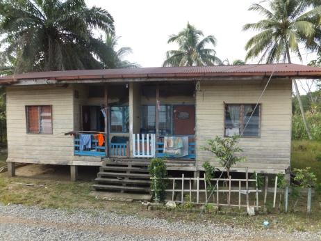 Sabah Padas Water Rafting in Train View of Locals Home