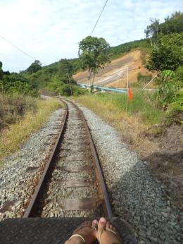 Sabah Padas Water Rafting in Train Backview