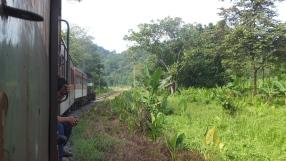 Sabah Padas Water Rafting in Train Sideview