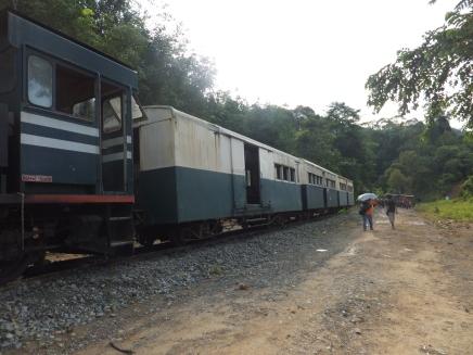 Sabah Padas Water Rafting Train Waiting for Train Change