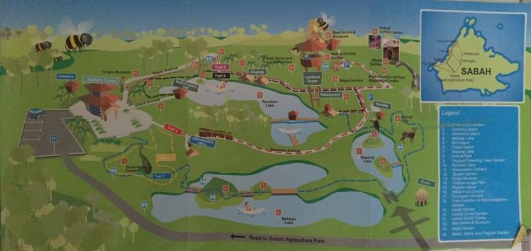 Sabah Agriculture Park Map