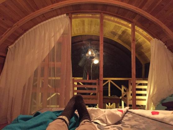 Seaview Faralya Butik Otel Room Nightview in Room