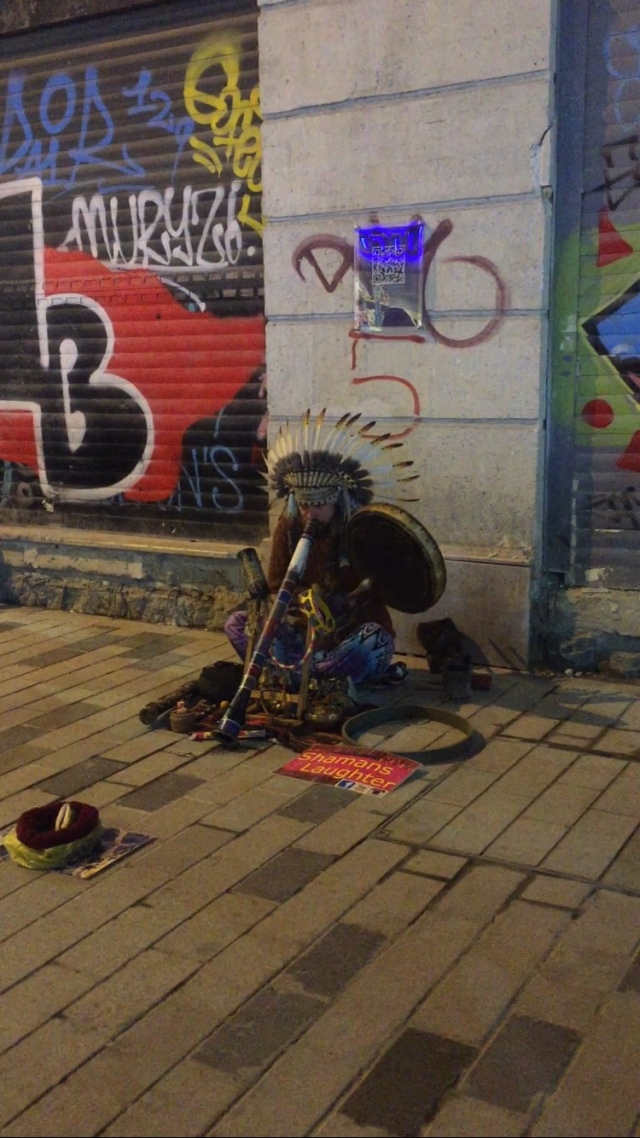 Istanbul Street Entertainment - Shamans Laughter at Taksim Square