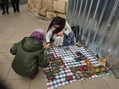 Istanbul Old Lady Street Seller Handmade Pouch - Me choosing
