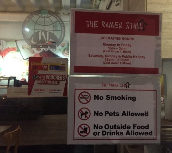 The Ramen Stall Opening Hours