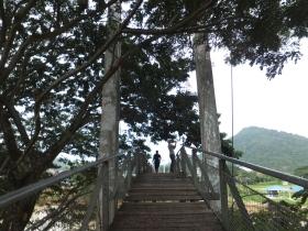 Tamparuli Suspension Bridge Entrance to the Other Side