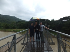 Tamparuli Suspension Bridge with BBH Driver Awang, BBH Staff Rudy and Esse