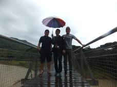 Tamparuli Suspension Bridge Rainbow Umbrella