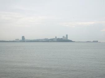 View of Likas Harbour from Menara Tun Mustapha