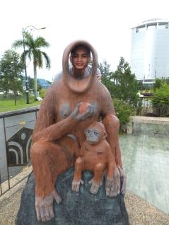 Orang Utan Props outside of Menara Tun Mustapha