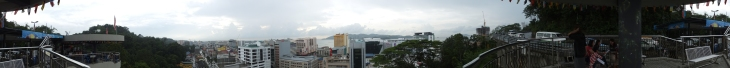 Panorama View of KK City from Signal Hill Observatory Tower