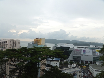 View of Pulau Gaya from Signal Hill Observatory Tower