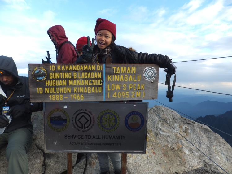 schmolphin at Mount Kinabalu Low's Peak in 2014