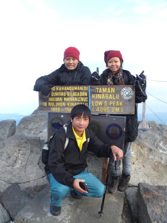 Mount Kinabalu Low's Peak at 4095.2m above sea level
