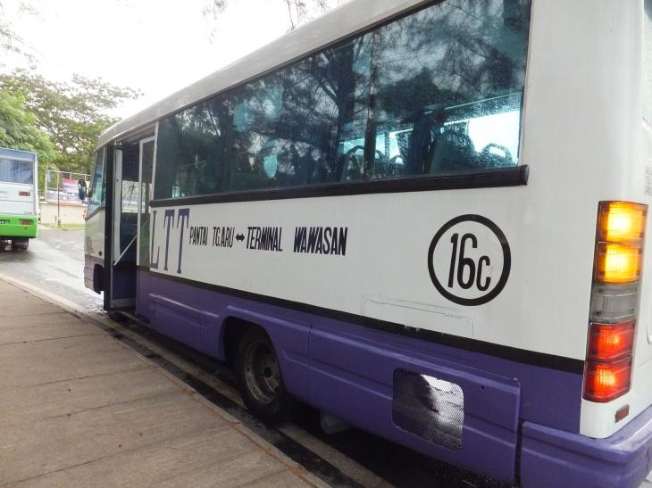 Minibus 16c from Kota Kinabalu City to Tanjung Aru Beach