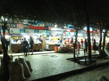 Tanjung Aru Beach Food and Drink Stalls