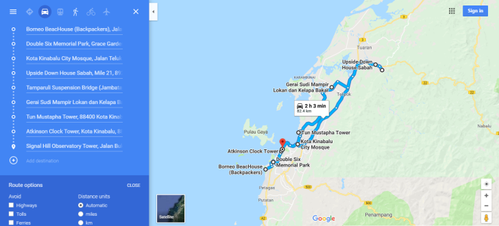 Places to Explore in KK City Zoom Out